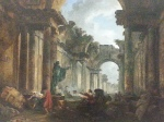 Hubert Robert also painted it as he interpreted it would look if it was blown up by revolutionists.