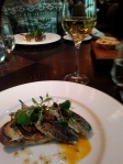 Smoked Sardines on Toast (c.1892)Anchovy butter, tomato, capers & lemon