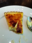 Gooseberry tart. very nice but a little rich. I am quite the fan of a gooseberry.