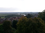 A badly taken photo of the view of the town Arundel from the castle
