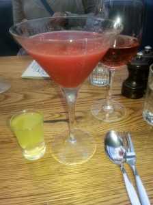 the rosata , a raspberry and peppercorn daiquiri and some lemoncello