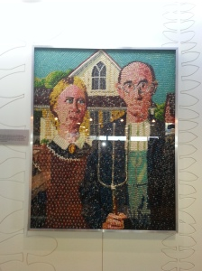 "This Jelly bean art of ""American Gothic"""