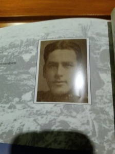 James Leslie lots his life in a world war. he didn't have the Leslie forehead though.