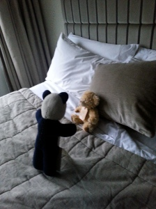 they give you a bear at the George. This is percy mid staking his territory.
