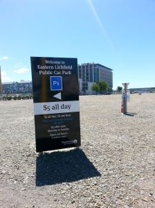 "On seeing this I finally got the ""joke"" the wine our guy made about it being easy to find a carpark in Christchurch."